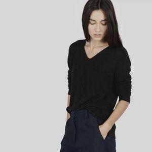 EVERLANE V Neck Knit Cotton Sweater